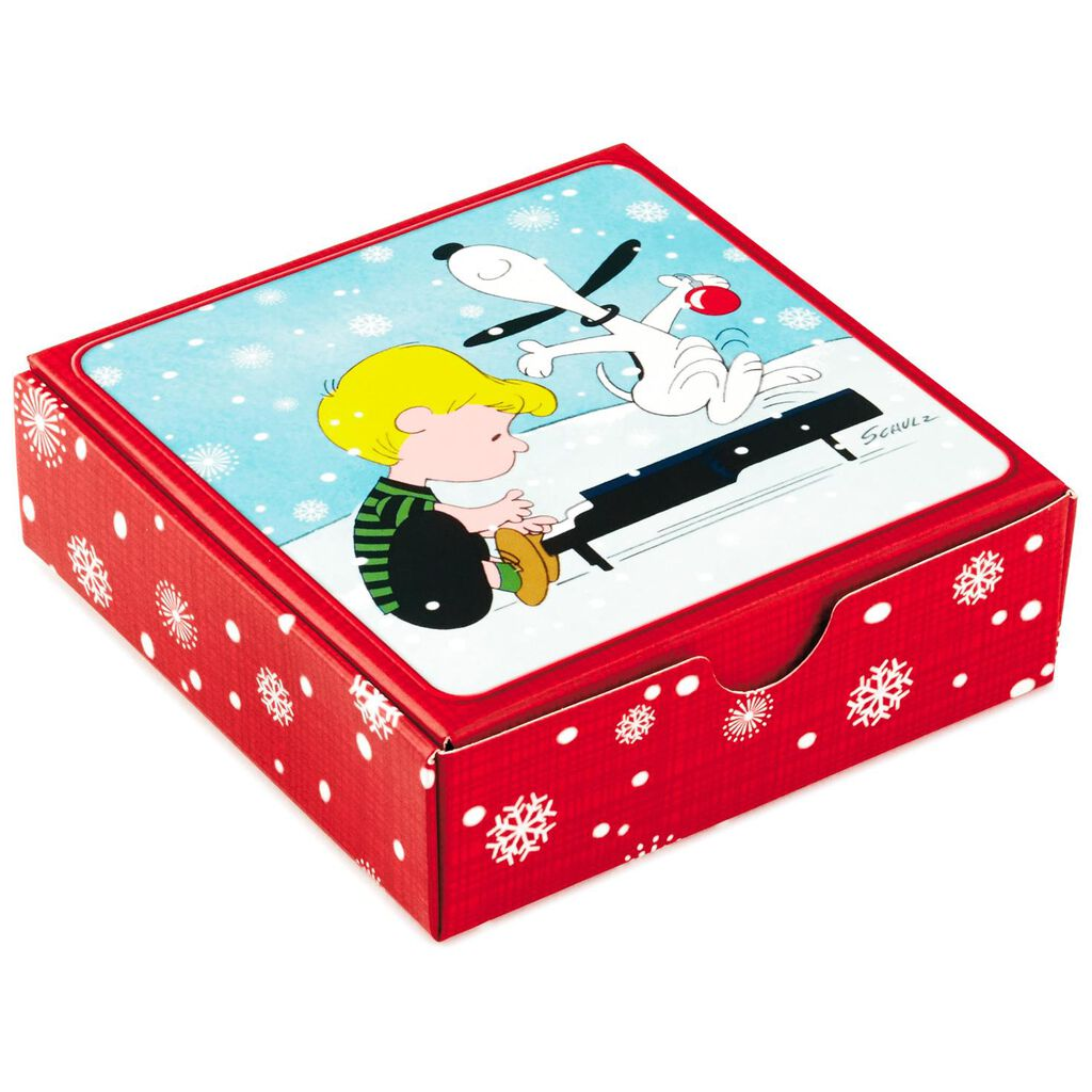 Peanuts Christmas Musical Gift Card Holder Box 4 Gift Card