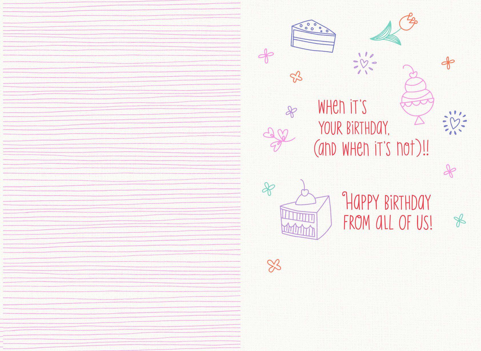 Happy Birthday Godmother Card: Birds In A Tree Happy Birthday Card For Godmother