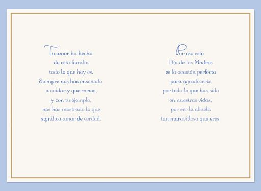 You're a Blessing Spanish-Language Mother's Day Card for Grandmother,