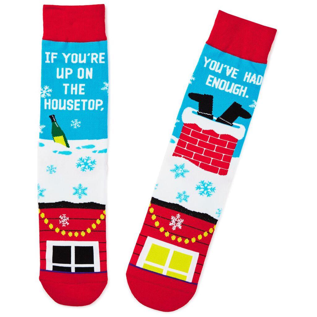 drunk santa toe of a kind funny christmas socks socks shoes hallmark - Funny Christmas Socks