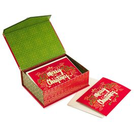 Traditional Merry Christmas Christmas Cards, Box of 16, , large