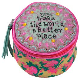 """Natural Life """"You Make the World a Better Place"""" Round Jewelry Case, , large"""