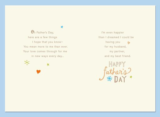 My Husband, My Friend Father's Day Card,