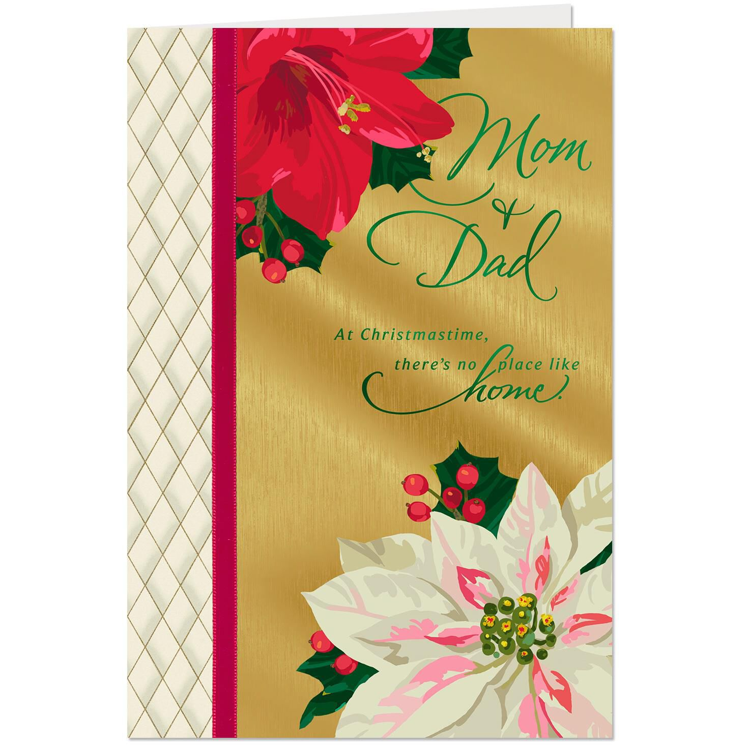 There Is No Place Like Home Christmas Card for Mom and Dad ...