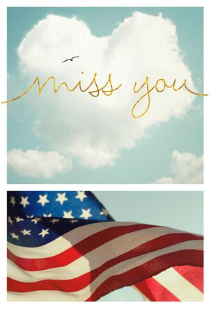 Star Spangled Military Miss You Card