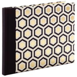 Geometric Gold Foil Guest Book, , large