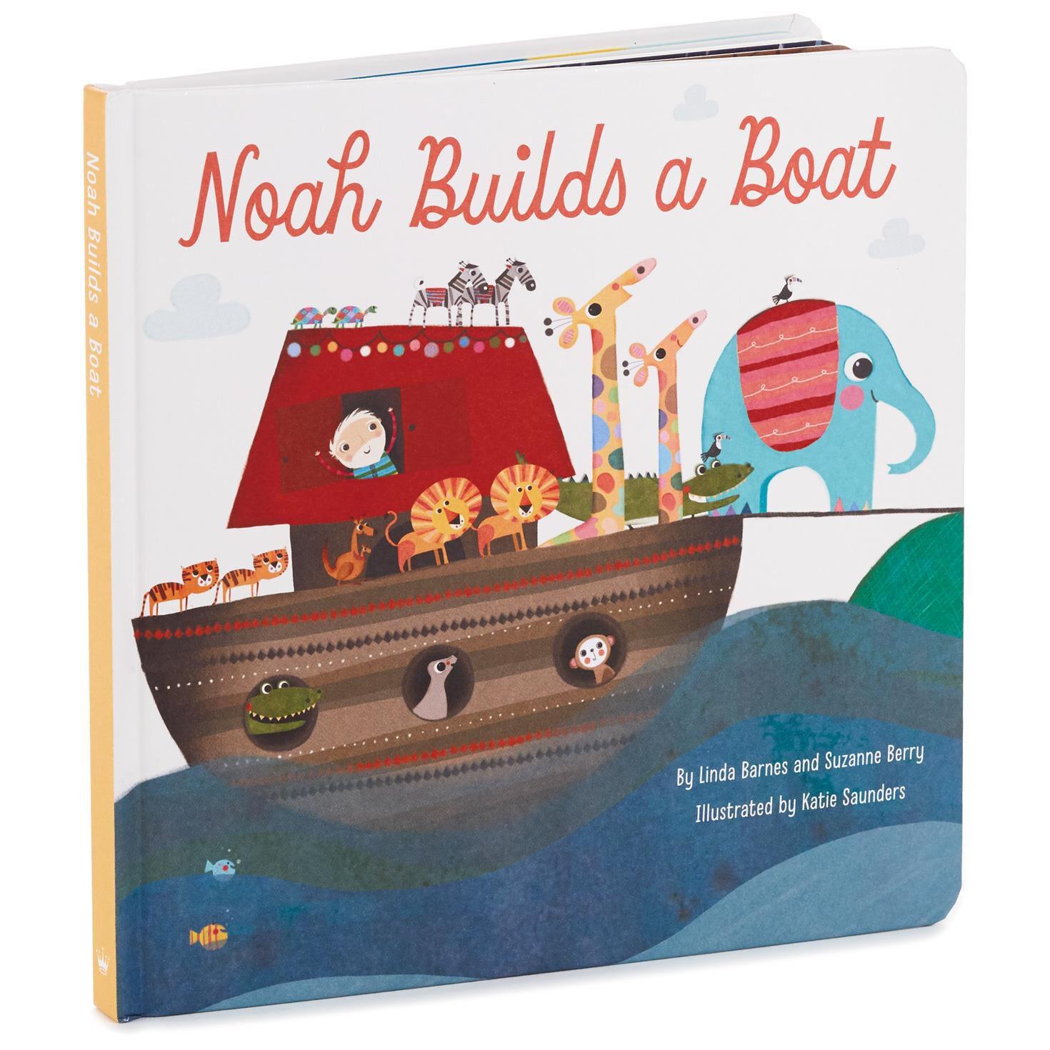 noah builds a boat board book kids books hallmark