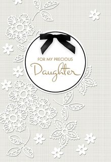 Daughter on Your Wedding Day Card,