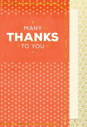 Pretty Polka Dot Thank You Card