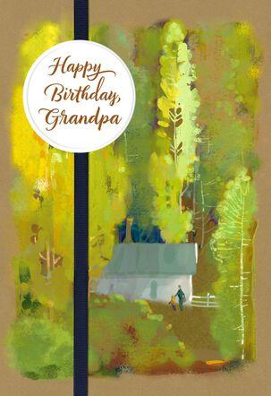 Celebrating You, Grandpa Religious Birthday Card