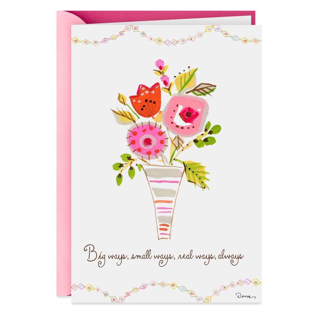 Dena Designs Vase Of Flowers Birthday Card For Grandmother
