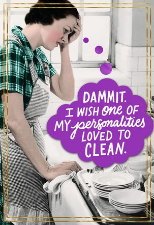 Screw the Chores Funny Birthday Card