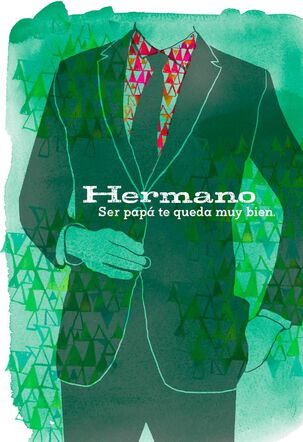 Brother in Suit Spanish Father's Day Card