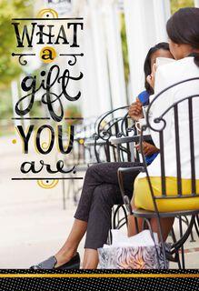 Coffee Shop Chat Friendship Card,