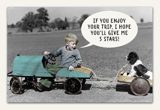 Five Stars Funny Birthday Card