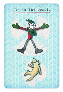 Life is Good® Snow Angels Christmas Card,