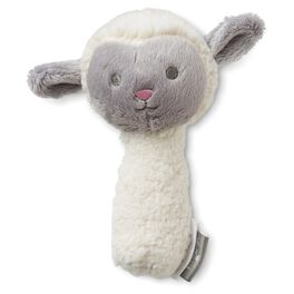Lamb Stuffed Rattle, , large