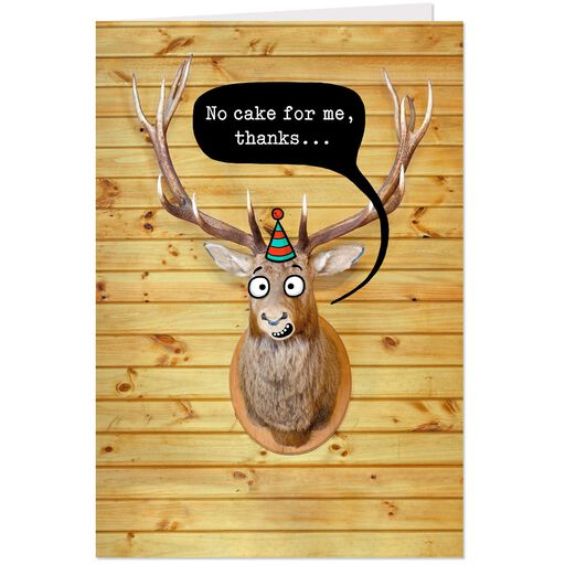 Mounted Deer Head Funny Birthday Card