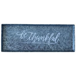 Be Thankful Large Decorative Metal Tray, 18x7, , large