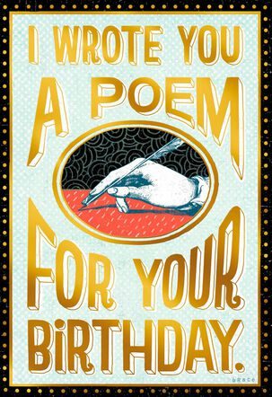 Poem for You Funny Birthday Card