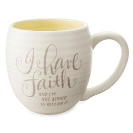 I Have Faith Ceramic Mug, 14 oz., , large