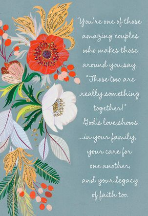 Beautiful Blooms Clergy Appreciation Card for Couple