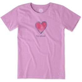 Life is Good® Women's Heart T-Shirt, , large