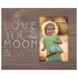 To the Moon & Back Wood Photo Frame, 4x6, , large