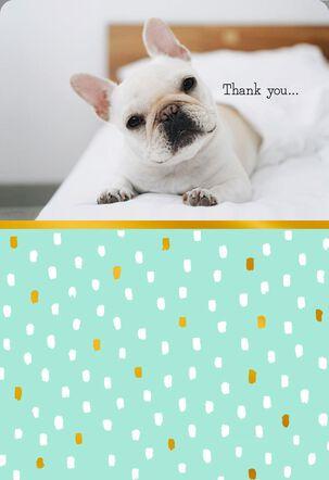 Furry Little Heart Thank You Card
