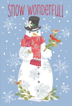 Snow Wonderful Christmas Card
