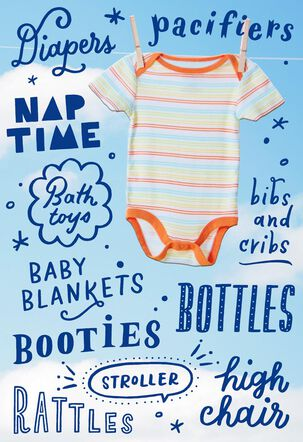 Dads-to-Be Onesie Baby Shower Card