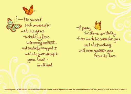 Butterflies of Encouragement Religious Card,