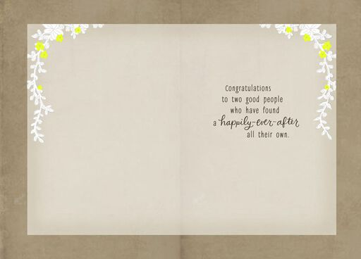 Cake-Topper Wedding Card,
