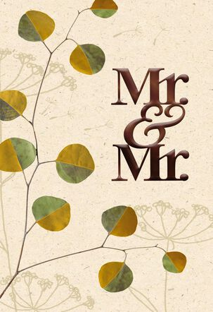 Mr. and Mr. Anniversary Card