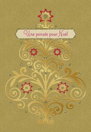 Une Pensée Pour Noël French-Language Christmas Card
