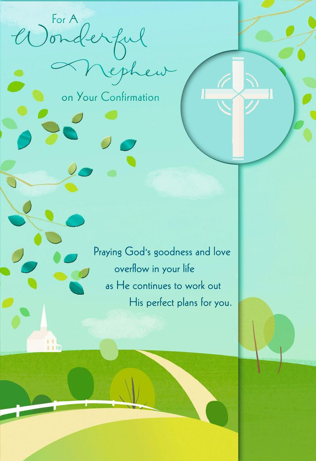 You Are A Blessing Nephew Confirmation Card