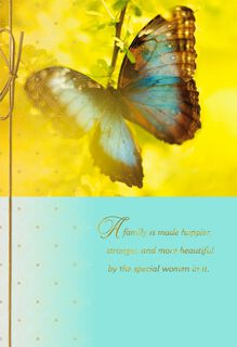 Butterfly in Sunlight Photograph Mother's Day Card,