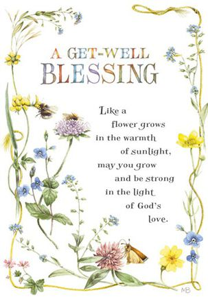 Marjolein Bastin Floral Religious Get Well Card