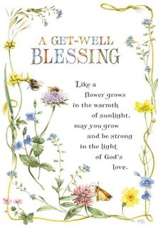 Marjolein Bastin Floral Religious Get Well Card,