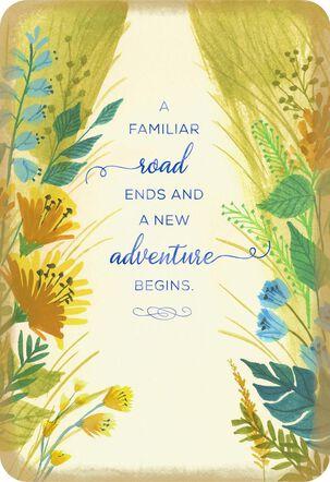 A New Adventure Begins Encouragement Card