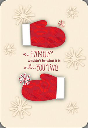 Special Pair Mittens Christmas Card