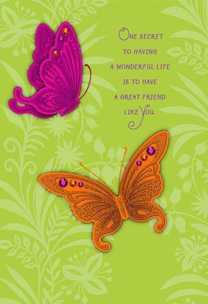 The Secret to a Wonderful Life Friendship Card