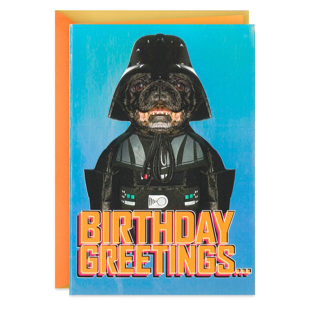 Star WarsTM Darth VaderTM Dog Birthday Card