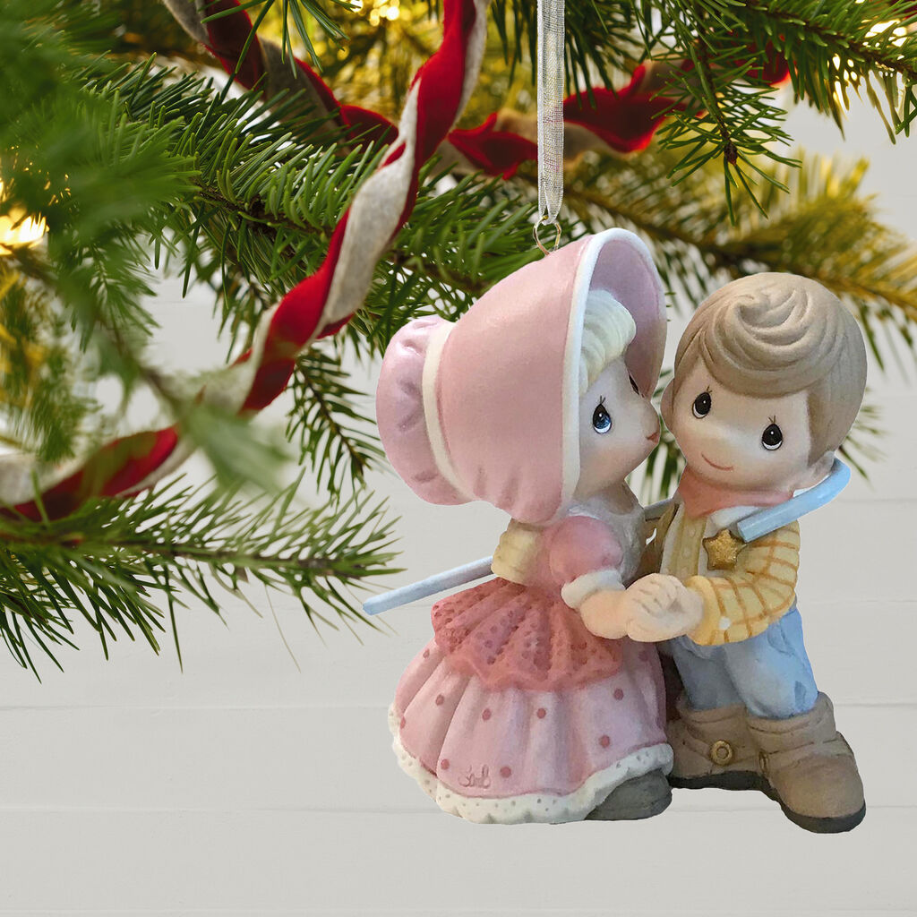 Toy Story Christmas Ornaments.Disney Pixar Toy Story Woody And Bo Peep Precious Moments Porcelain Ornament