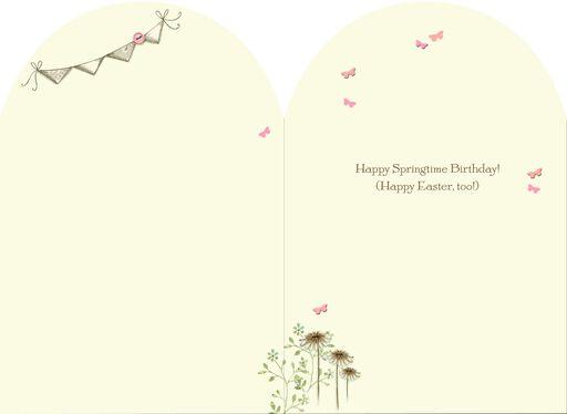 Springtime Birthday Easter Card,