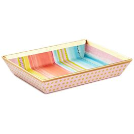 Haute Girls™ Paradise Stripes With Polka Dots Memo Tray, , large