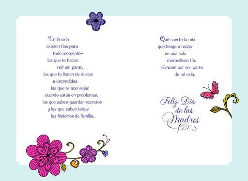 Feliz Día de las Madres Para Mi Tía,