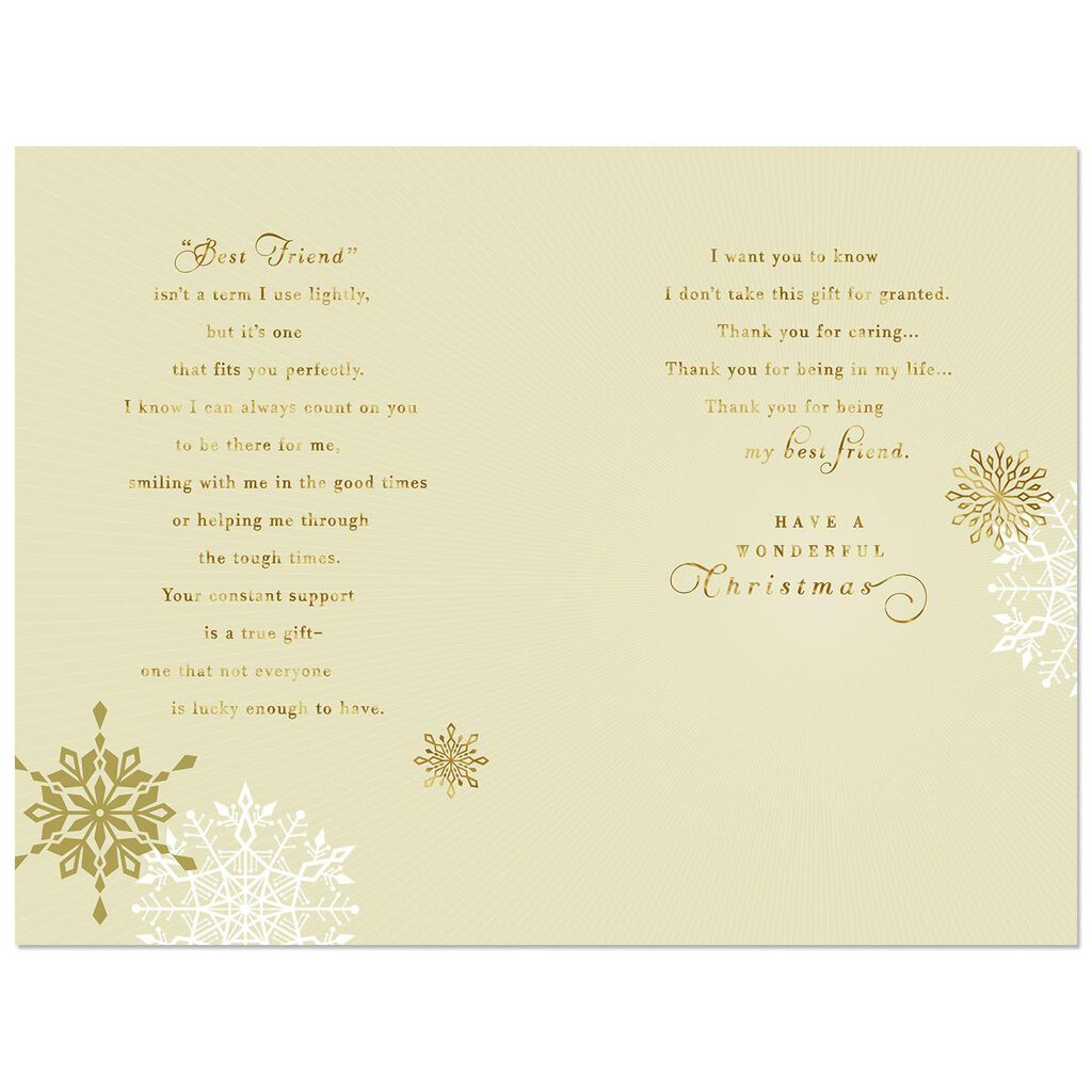 You Re A True Gift Christmas Card For Best Friend Greeting Cards