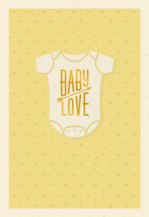 Big Little Love Onesie New Baby Card