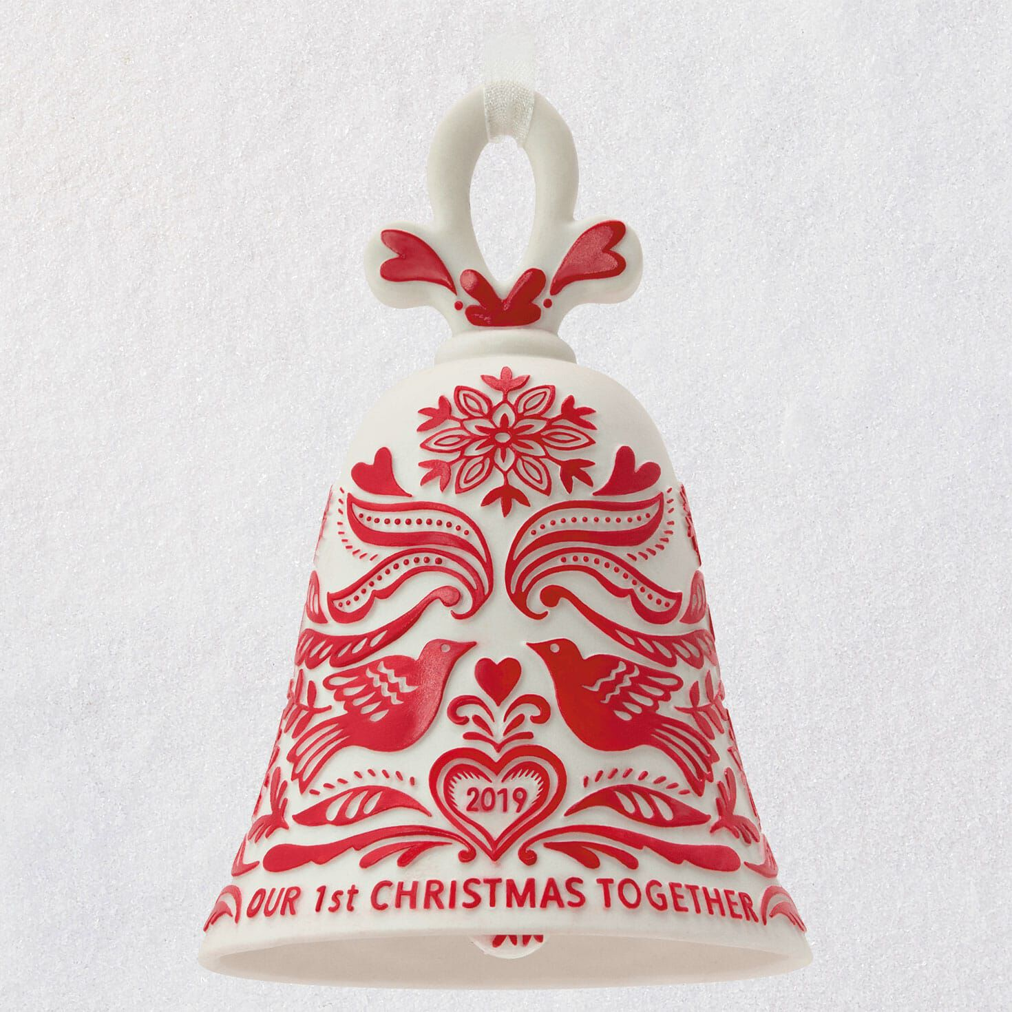 Christmas Bell.Our First Christmas Bell 2019 Porcelain Ornament